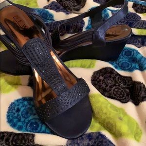 Navy Blue New York Transit Los Wedge Sandals